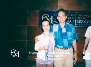 Roland Dyens en Chile. 2003.
